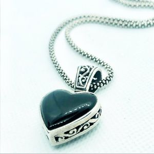 Brighton Reversible Black Heart Necklace